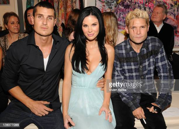 Jesse Waits Jayde Nicole and Corey Feldman front row at Setorii Fashion Show 2012 Spring Collection on October 6 2011 at Em Co in Los Angeles...