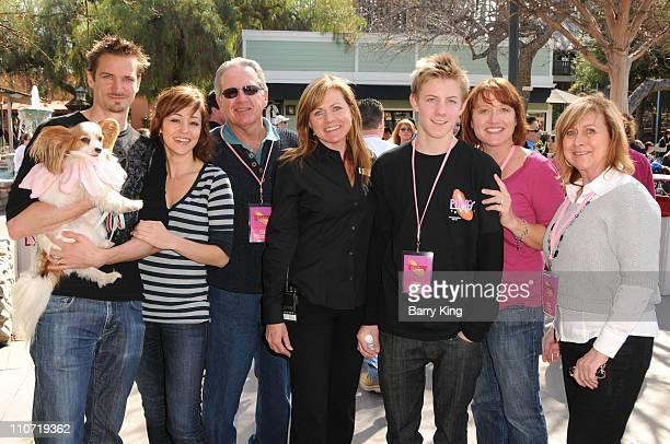 Jesse Warren actress Autumn Reeser publicist Michele Wischmeyer and family attend Pink's Grand Opening at Knott's Berry Farm on February 28 2010 in...