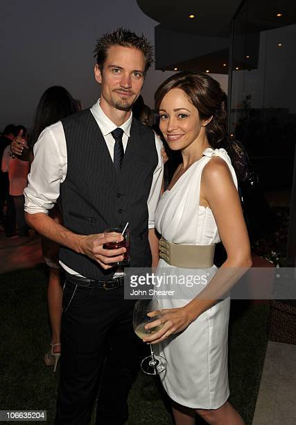 Jesse Warren and Autumn Reeser attend the 9th annual InStyle summer soiree hosted by InStyle editor Ariel Foxman and the West Coast Editors of...