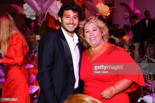 Jesse Warren and Rebecca Seawright attend the Annual Summer Party Benefiting Stony Brook Southampton Hospital on August 03 2019 in Southampton New...