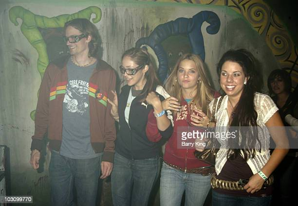 Jesse Warren Autumn Reeser Ashley Benson and sister Shaylene in the Feary Tales Maze