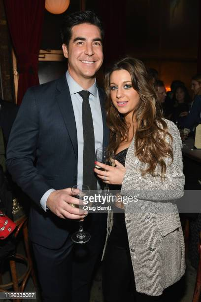 Jesse Watters and Emma DiGiovine attend the after party for Jillian Cardarelli's performance at Rockwood Music Hall on February 20 2019 in New York...