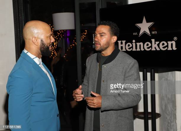 Jesse Willams and Common attend Common's 5th Annual Toast to the Arts at Ysabel on February 22 2019 in West Hollywood California