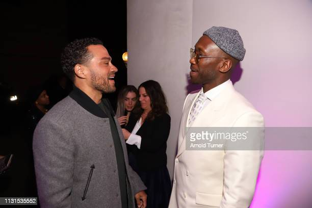 Jesse Willams and Mahershala Ali attends Common's 5th Annual Toast to the Arts at Ysabel on February 22 2019 in West Hollywood California