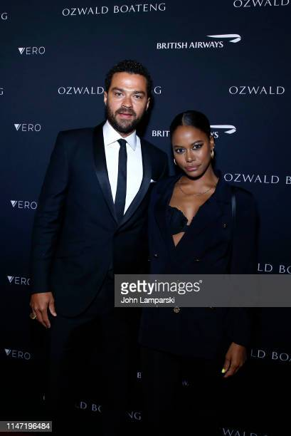Jesse Williams and Taylour Paige attend Ozwald Boateng Harlem Runway Show at The Apollo Theater on May 05 2019 in New York City