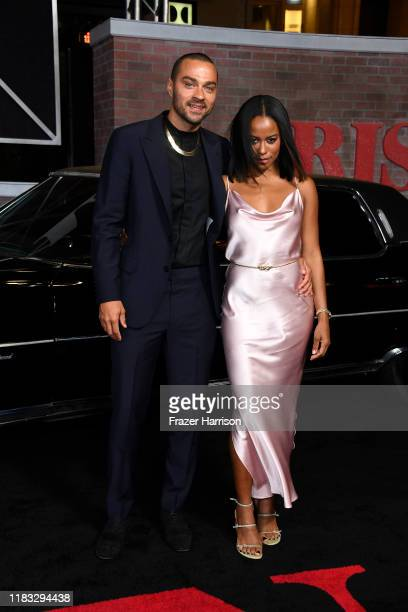 Jesse Williams and Taylour Paige attend the Premiere Of Netflix's The Irishman at TCL Chinese Theatre on October 24 2019 in Hollywood California