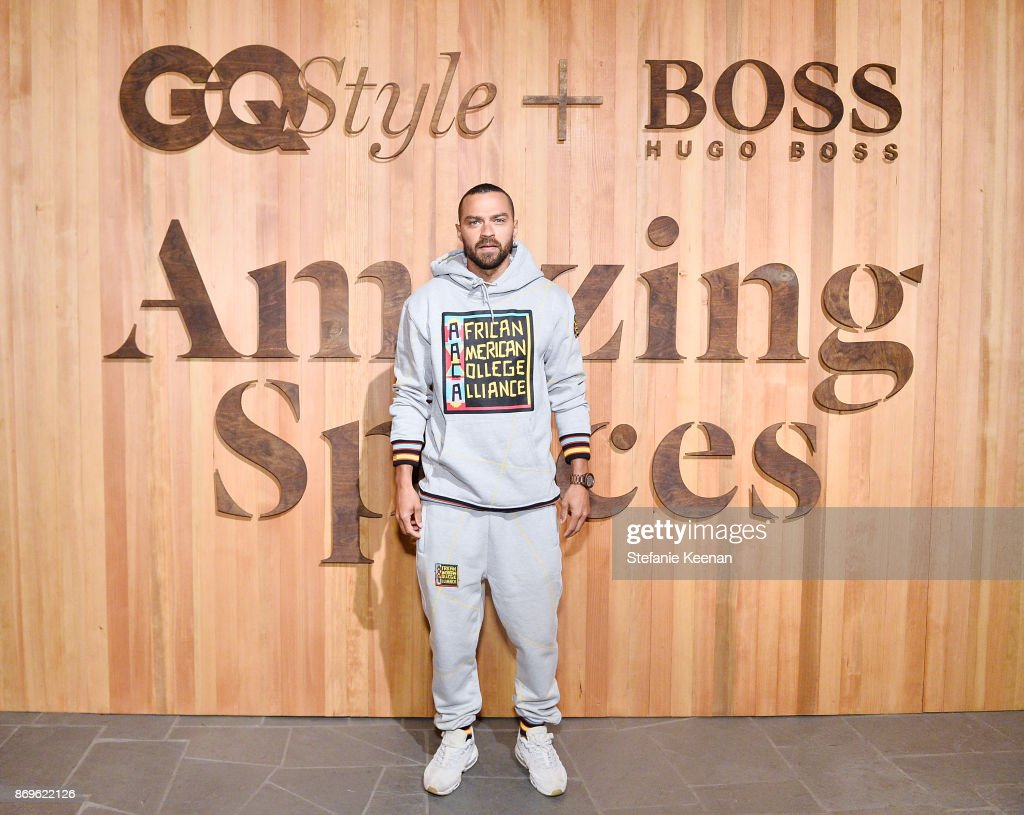 Jesse Williams attends GQ Style & Hugo Boss celebrate Amazing Spaces with Edgar Ramirez at John Lautner's Harvey House on November 2, 2017 in Los Angeles, California.