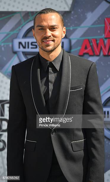 Jesse Williams attends the 2016 BET awards at Microsoft Theater on June 26 2016 in Los Angeles California