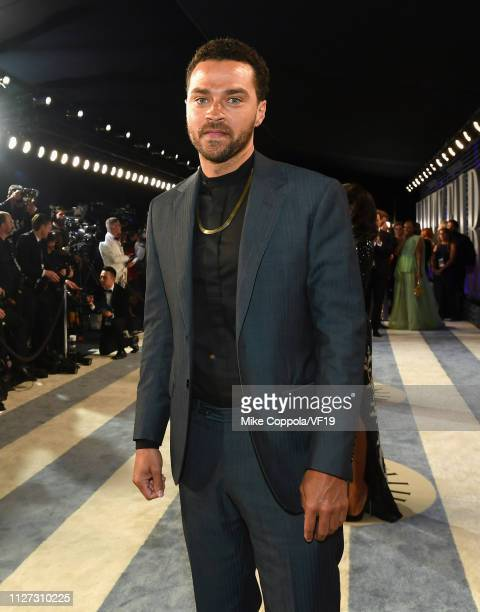 Jesse Williams attends the 2019 Vanity Fair Oscar Party hosted by Radhika Jones at Wallis Annenberg Center for the Performing Arts on February 24...