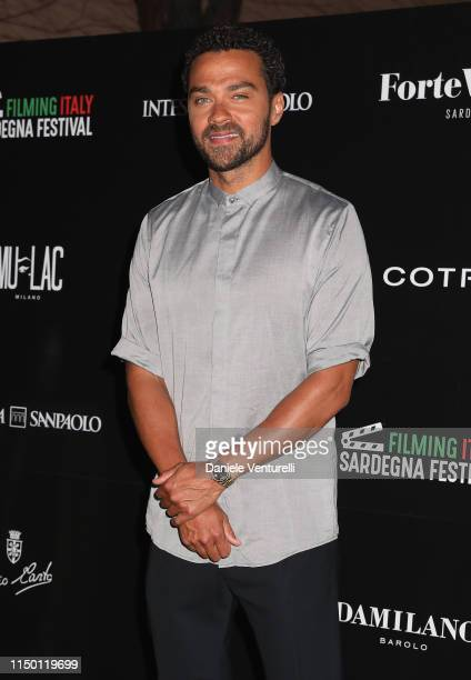 Jesse Williams attends the Filming Italy Sardegna Festival 2019 Day 2 at Forte Village Resort on June 14 2019 in Cagliari Italy