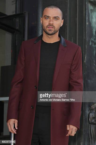 Jesse Williams attends the Lanvin Menswear Fall/Winter 20172018 show as part of Paris Fashion Week on January 22 2017 in Paris France