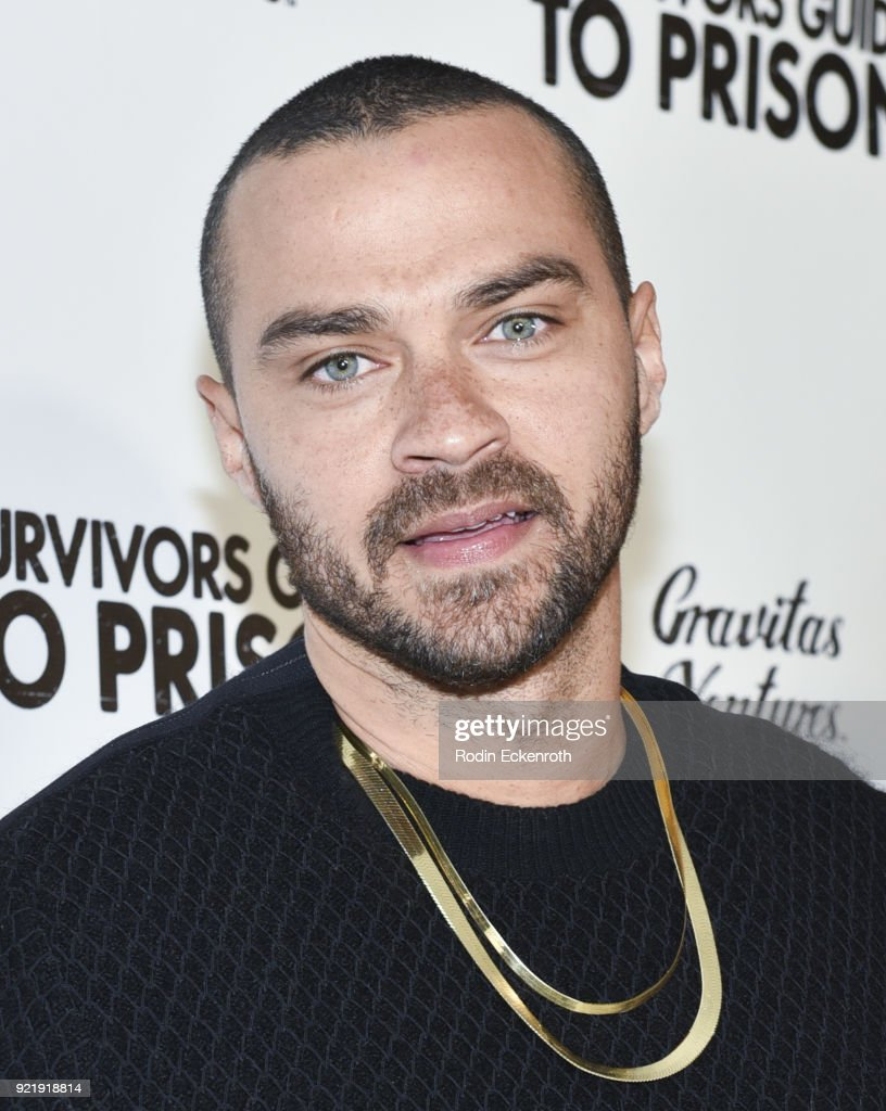Jesse Williams attends the premiere of Gravitas Pictures' 'Survivors Guide To Prison' at The Landmark on February 20, 2018 in Los Angeles, California.