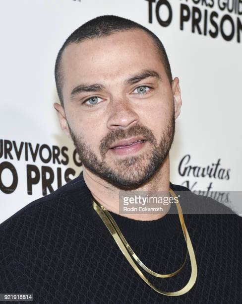 Jesse Williams attends the premiere of Gravitas Pictures' 'Survivors Guide To Prison' at The Landmark on February 20 2018 in Los Angeles California