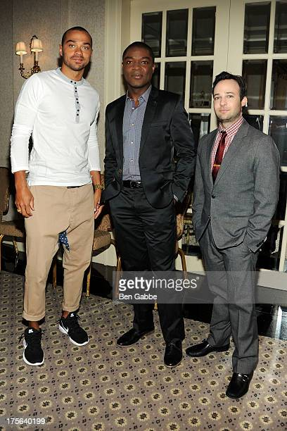 Jesse Williams David Oyelowo and Danny Strong attend the press conference for The Weinstein Company's LEE DANIELS' THE BUTLER at Waldorf Astoria...