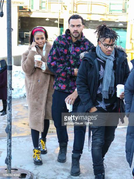 Jesse Williams is seen on January 27 2019 in Park City Utah