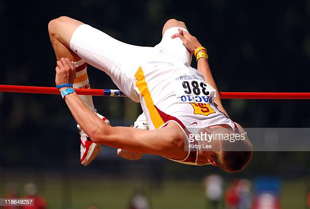 Jesse Williams of USC won the high jump in a meet record 7-5 3/4 in the Pacific-10 Conference Track & Field Championships at UCLA's Drake Stadium in...