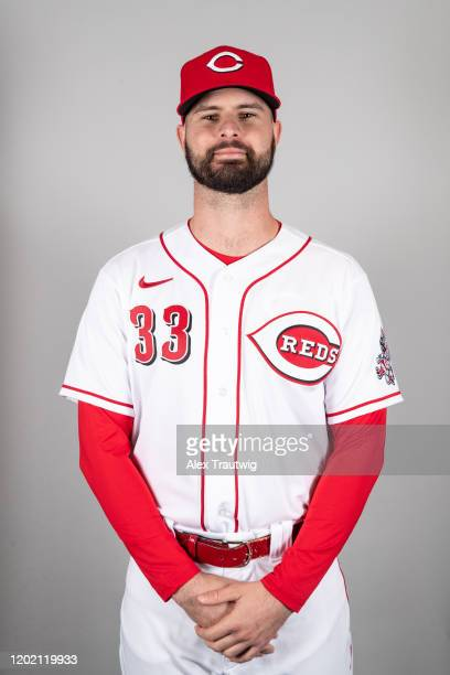 Jesse Winker of the Cincinnati Reds poses during Photo Day on Wednesday, February 19, 2020 at Goodyear Ballpark in Goodyear, Arizona.
