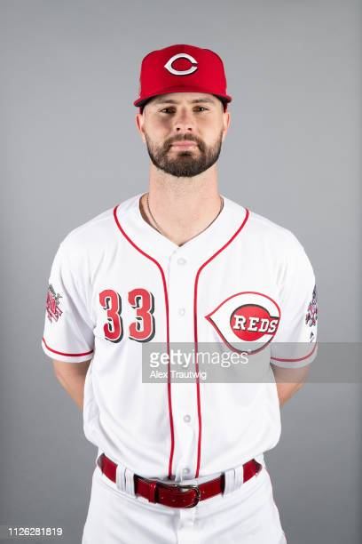 Jesse Winker of the Cincinnati Reds poses during Photo Day on Tuesday February 19 2019 at Goodyear Ballpark in Goodyear Arizona