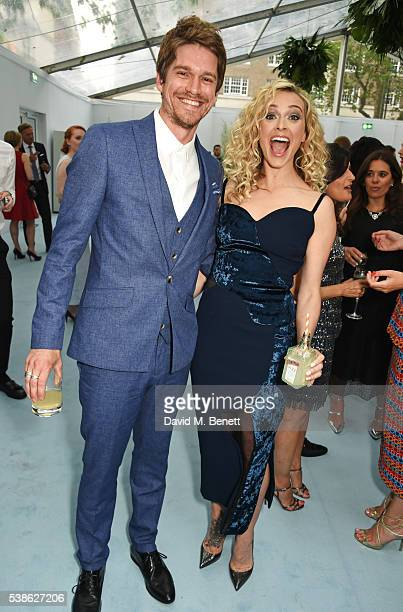Jesse Wood and Fearne Cotton attend the Glamour Women Of The Year Awards in Berkeley Square Gardens on June 7 2016 in London United Kingdom
