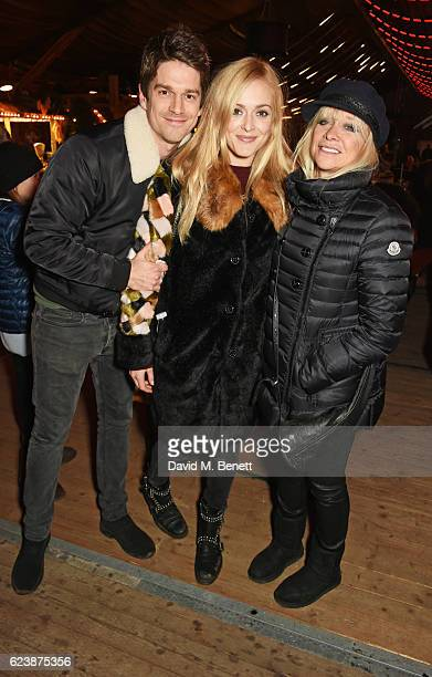 Jesse Wood Fearne Cotton and Jo Wood attend a VIP Preview of Hyde Park's Winter Wonderland 2016 on November 17 2016 in London United Kingdom