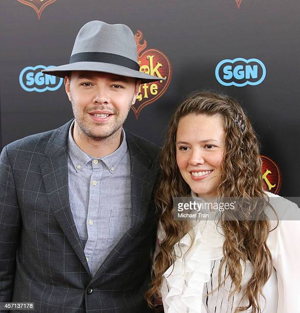 "Jesse y Joy arrive at the Los Angeles premiere of ""Book Of Life"" held at Regal Cinemas L.A. Live on October 12, 2014 in Los Angeles, California."