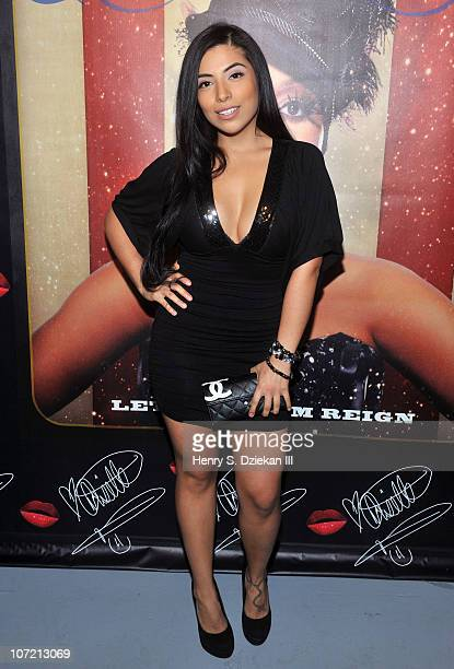 Jessenia Vice attends Chrisette Michele's tea party for her new album Let Freedom Reign at 8 Bond Street Studio on November 30 2010 in New York City