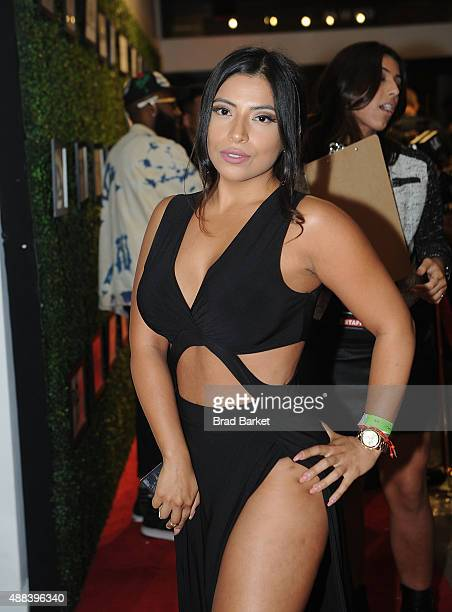 Jessenia Vice attends the Angela Simmons Presents The Harlem Globetrotters 90th Anniversary And Foofi Collection during Spring 2016 Style360 on...