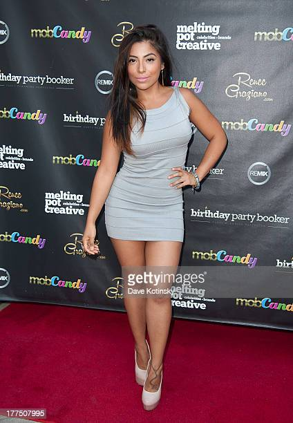 Jessenia Vice attends the Mobcandy Fashion Line launch at The Empire Hotel Rooftop on August 23 2013 in New York City