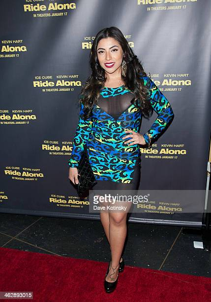 Jessenia Vice attends the Ride Along screening at AMC Loews Lincoln Square on January 15 2014 in New York City