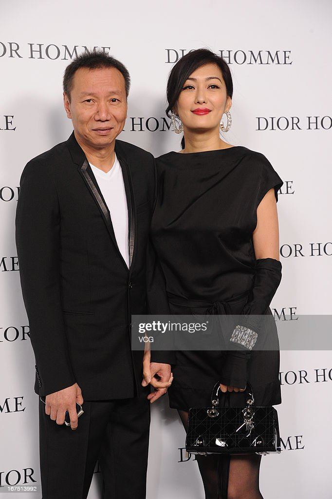 Jessey Meng and her husband Ji Zenghe attend the Dior Homme F/W 2013 Menswear Collection Show on April 25, 2013 in Beijing, China.