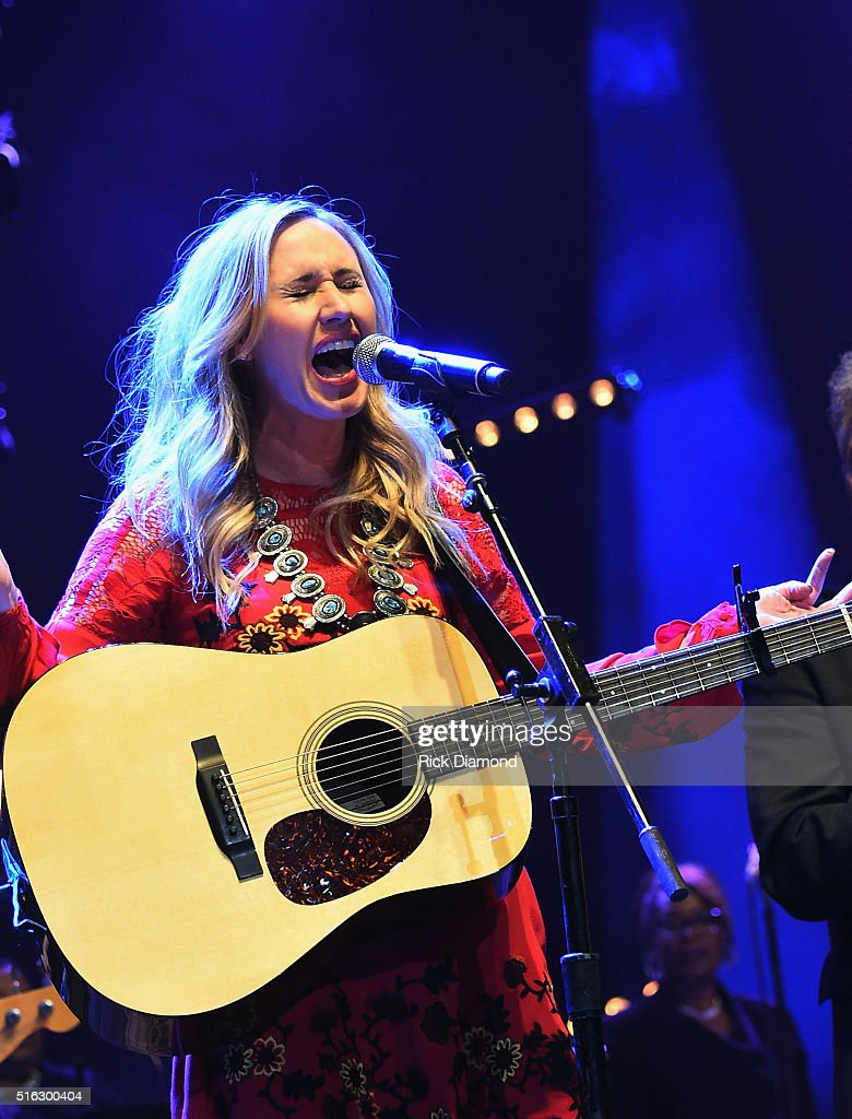 Jessi Alexander performs at The Life & Songs of Kris Kristofferson produced by Blackbird Presents at Bridgestone Arena on March 16, 2016 in Nashville, Tennessee.