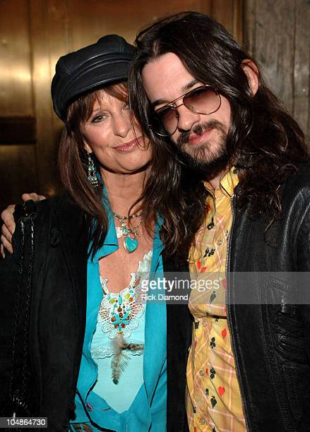 Jessi Colter and son Shooter Jennings during 20th Century Fox's Walk The Line New York Premiere Inside Arrivals at Beacon Theatre in New York City...