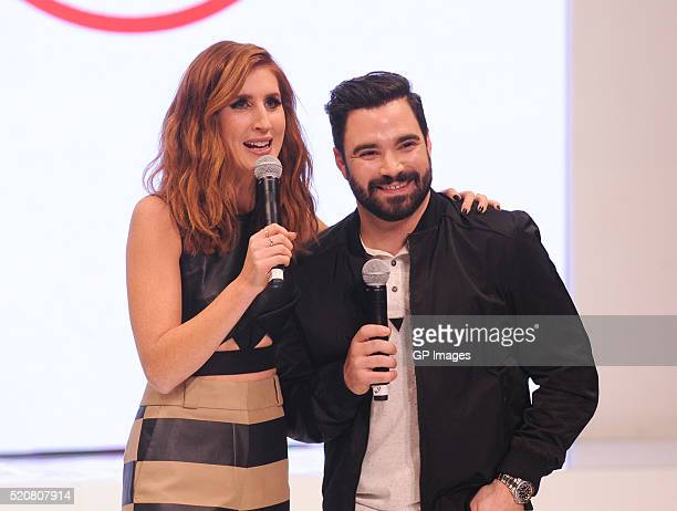 Jessi Cruickshank and Alexandre Despatie attend the Hudson's Bay Company Launch of the Team Canada Collection For Rio 2016 at the Art Gallery of...