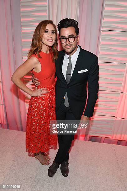 Jessi Cruickshank and Dan Levy attend the 3rd Annual An Evening With Canada's Stars at Four Seasons Hotel Los Angeles at Beverly Hills on February 25...