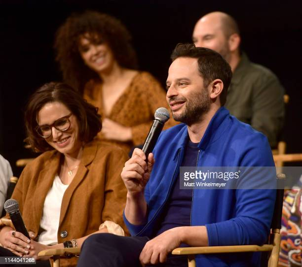 Jessi Klein and Nick Kroll speak onstage at the Netflix Adult Animation QA and Reception on April 20 2019 in Hollywood California