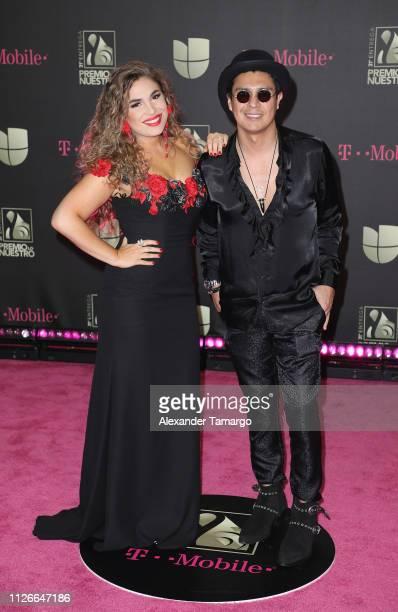 Jessi Leon and Periko attend Univision's 31st Edition Of Premio Lo Nuestro A La Musica Latin at American Airlines Arena on February 21 2019 in Miami...