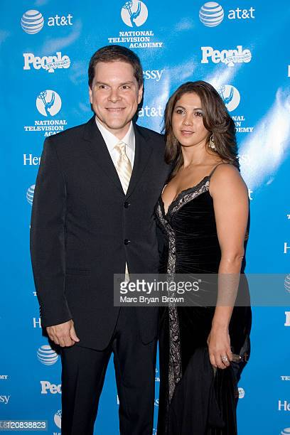 Jessi Losada Sports Anchor for Telemundo with wife Angelina at the 2nd annual Leaders of Spanish Language Television Emmy Awards