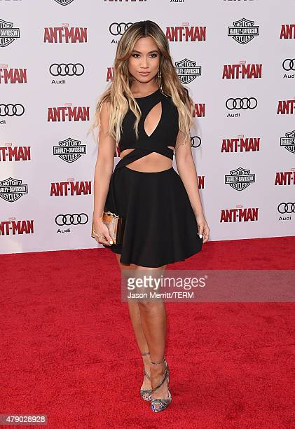 Jessi Malay arrives at the Los Angeles Premiere of Marvel Studios 'AntMan' at Dolby Theatre on June 29 2015 in Hollywood California