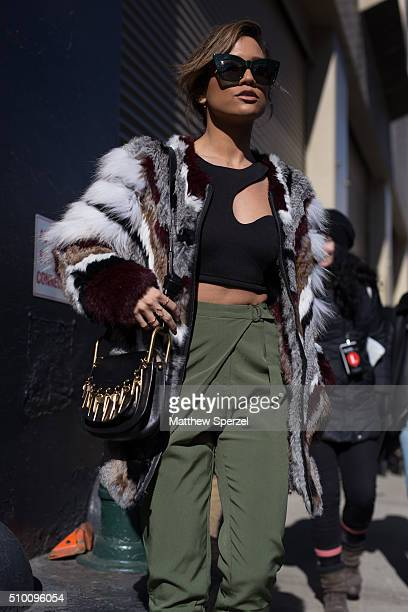 Jessi Malay is seen at Rebecca Minkoff during New York Fashion Week: Women's Fall/Winter 2016 on February 13, 2016 in New York City.