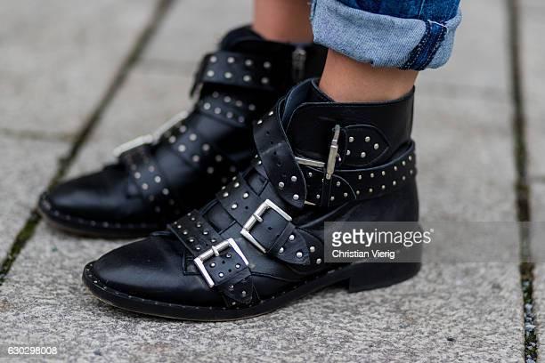 Jessi Quednau wearing black Topshop boots on December 20 2016 in Berlin Germany