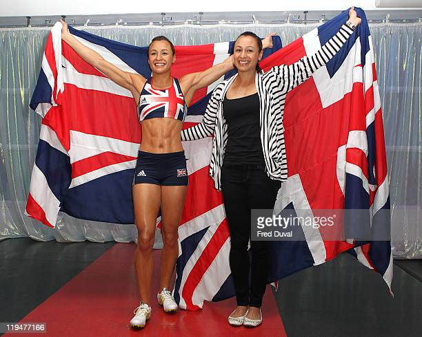 Jessia Ennis poses as she reveals her new wax figure in person The World Champion Heptathlete was photographed with wax likeness at Madame Tussauds...
