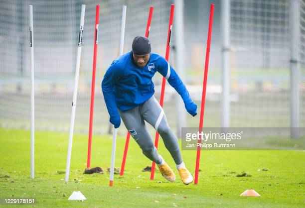 Jessic Ngankam of Hertha BSC during the training session on October 20 2020 in Berlin Germany
