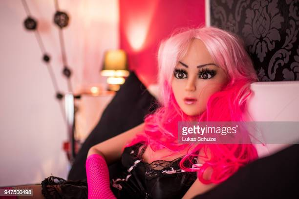 Jessica a silicon sex doll for sexual encounters lies on a bed at the Bordoll brothel on April 17 2019 in Dortmund Germany Bordoll is Germany's first...