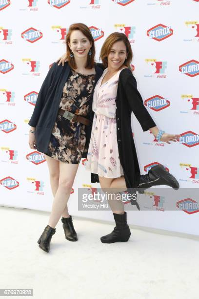 Jessica Adams and Amy Jo Johnson attend 3rd Annual Bentonville Film Festival on May 2 2017 in Bentonville Arkansas