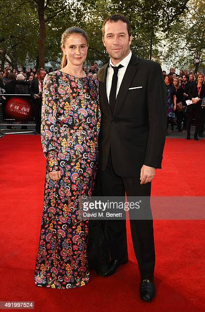 Jessica Adams and James Purefoy attend a gala screening of HighRise during the BFI London Film Festival at Odeon Leicester Square on October 9 2015...