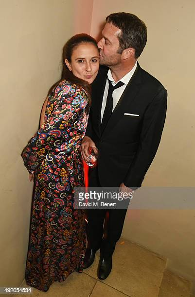 Jessica Adams and James Purefoy attend Eva Cavalli's birthday party at One Mayfair on October 9, 2015 in London, England.
