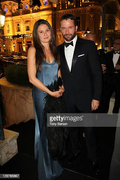 Jessica Adams and James Purefoy attend Roger Dubuis Soiree Monegasque at Hotel de Paris on October 20 2011 in Monaco Monaco