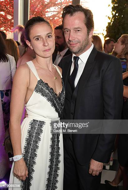Jessica Adams and James Purefoy attend the Future Dreams Midsummer Night Party at SushiSamba on June 30 2015 in London England