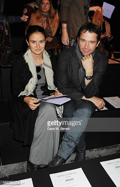 Jessica Adams and James Purefoy attend the Twenty8Twelve Spring/Summer 2011 show as part of London Fashion Week at the at Old Sorting Office on...