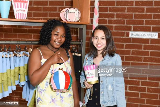 Jessica Adams and Lola Raie attend LANOOSH grand opening event hosted by Disney star Ava Kolker at LANOOSH on June 20 2019 in Glendale California